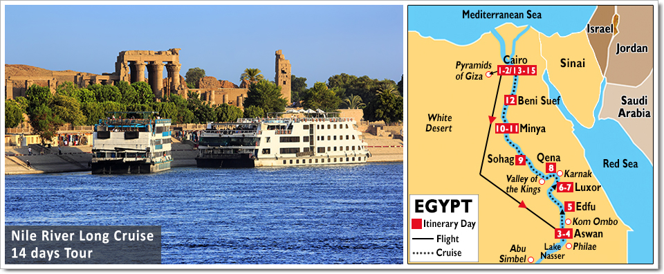 14 Days Nile Cruise Tour Nile River Cruise Tours To