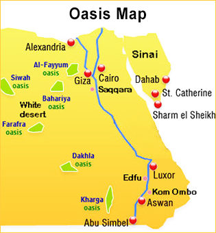 Egypt Vacation Packages Cheap Egypt Tours Egypt Holiday Deals - Map of egypt oasis