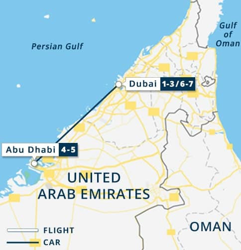Map Of Abu Dhabi On World Map Abu Dhabi Shopping Malls Map United