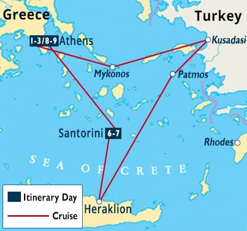 Athens Greek Islands Turkey Cruise Santorini Tour Celestyal