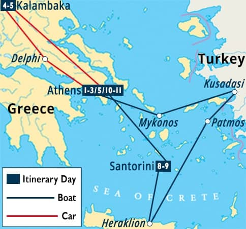 Classic Greece Greek Islands Turkey Cruise Santorini Tour