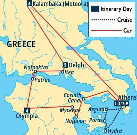 Classic Greece Tour Athens Olympia Delphi Vacation Packages