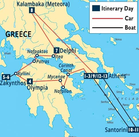 Spectacular Greece Tour   Athens - Olympia - Delphi Vacation