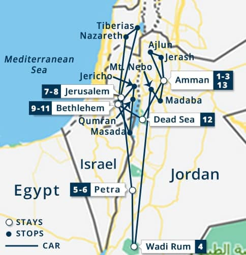 Explore Jordan 5 nights Holy Land Tour Israel Bethlehem