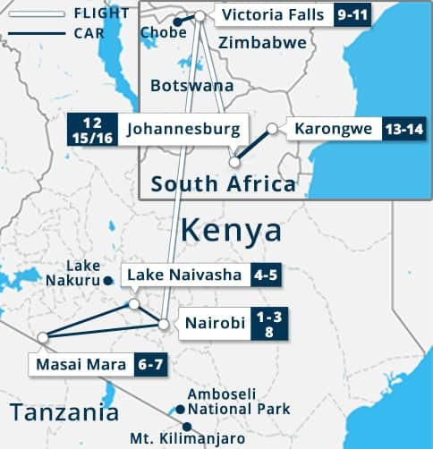 Lake Victoria On Map Of Africa.Kenya South Africa Victoria Falls Chobe Tour Cheap Tour