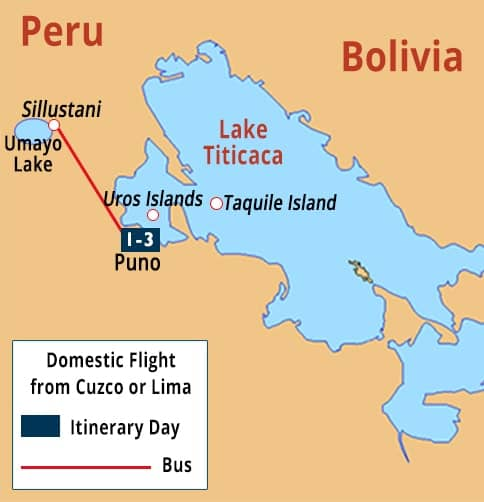 Puno - Lake icaca Short Stay Tours | Uros - Taquile Islands ... Image Map Of South America Lago Caca on